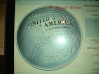 2014 National Baseball Hall of Fame $1 dollar silver proof coins in hand ready