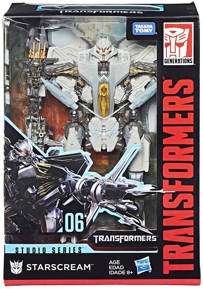 Transformers Movie Studio Series 8 Inch Action Figure Voyager Class -  Starscream #06 (Sub-Standard Packaging)