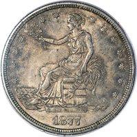 1877 T$1 PCGS MS64 CAC