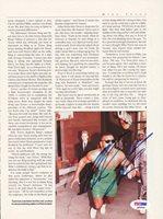 Mike Tyson Autographed Magazine Page Photo Vintage PSA/DNA #Q65690Mike Tyson Autographed Magazine Page Photo Vintage PSA/DNA #Q65690