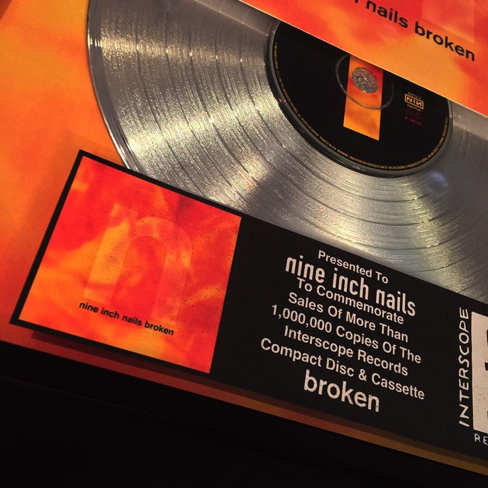 Nine Inch Nails NIN Broken Platinum Record Album Disc M
