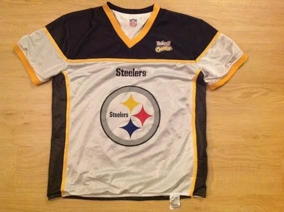 on sale 8db4a 7ff4e Pittsburgh Steelers Reversible NFL Flag Football Jersey Large Baked Cheetos