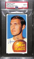 1970 Topps Jerry West Signed Card (PSA/DNA Encased - Autograph Grade 9)