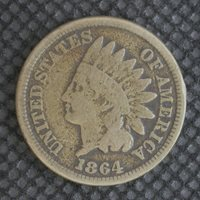 1864 CN INDIAN CENT 1c F12