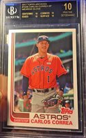 2017 Topps Archives 102 Carlos Correa wearing glove SP BGS 10 black label sick!