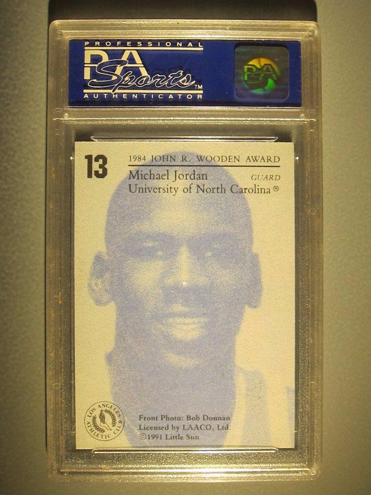 1991 Little Sun Wooden Award Winners 13 Michael Jordan North Carolina Psa 10