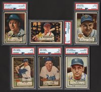 Lot # 94: 1952 Topps Low Number Partial Set with Some Signed PSA (247)