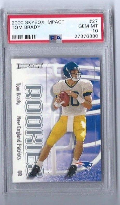 2000 Fleer Skybox Impact 27 Tom Brady Rookie Card Psa 10 Gem Mint Patriots Goat
