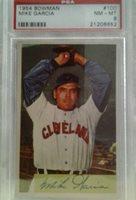 Collectible Vintage 1954 Bowman Mike Garcia #100 PSA NM-MT 8
