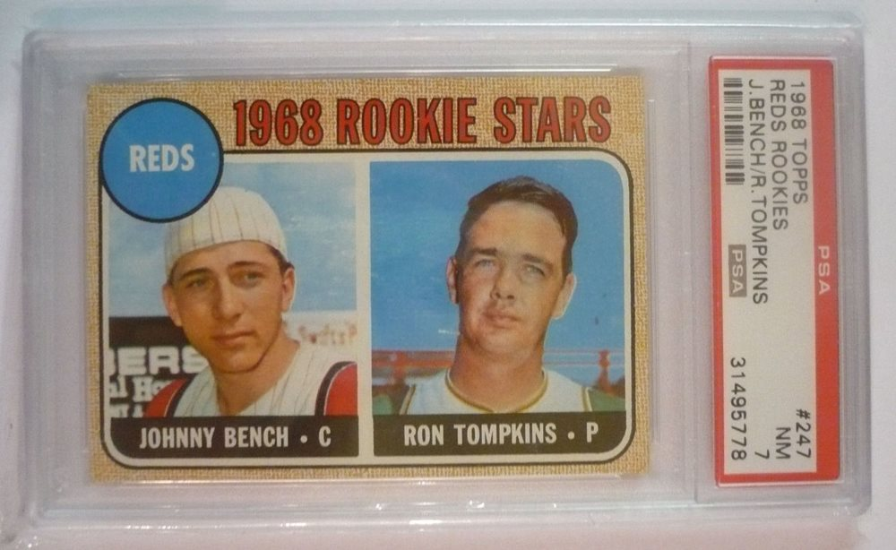 1968 Topps Reds Rookie Stars Johnny Bench Rookie Psa 7