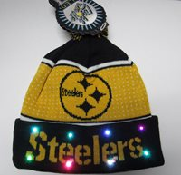 Pittsburgh Steelers NFL KNIT LED Light Up Hat Winter Po 6f537bdbfe0