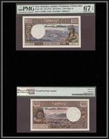 100 Francs 1972 Greece New Hebrides Pmg 67 Epq Superb Gem Uncirculated
