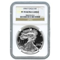1994-P 1 oz Proof Silver American Eagles NGC PF70 UCAM