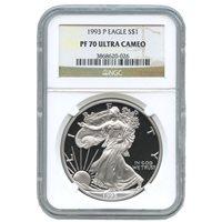 1993-P 1 oz Proof Silver American Eagles NGC PF70 UCAM
