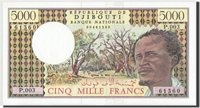 5000 Francs Dschibuti Banknote, 1979, Km:38d