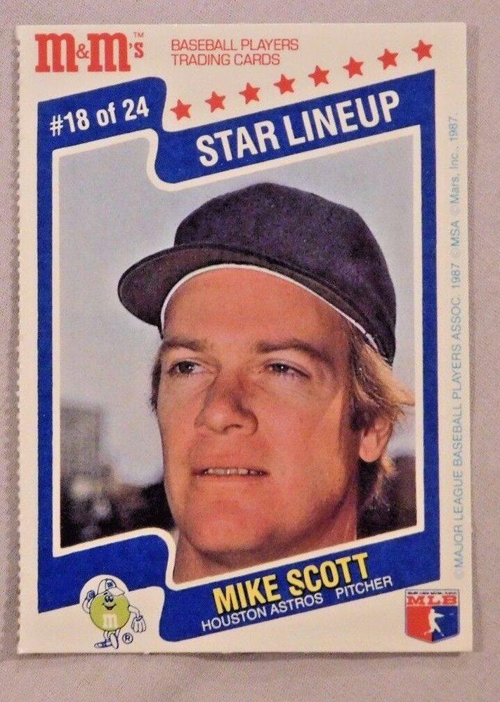 1987 Mms Star Lineup Mike Scott Houston Astros Baseball Card Lot Of 2