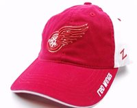 official photos 6457f 68f7a Detroit Red Wings Zephyr NHL Letterman Team Logo Slouch Hockey Cap Dad Hat