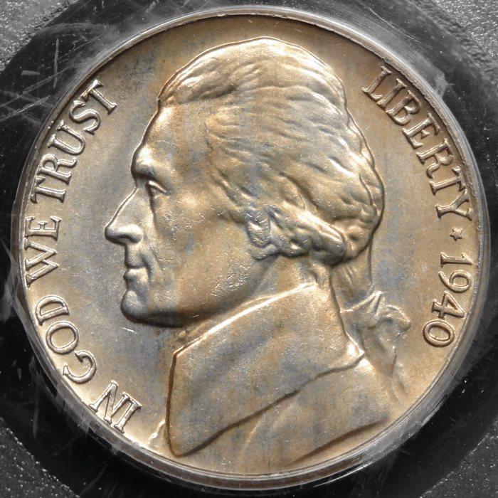 1940-D Jefferson Nickel Gem BU Uncirculated Full Step Full Steps