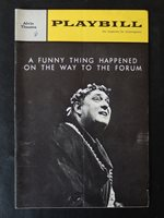 Alvin Theatre Playbill 07.08.63 A Funny Thing Happened on the Way to the Forum