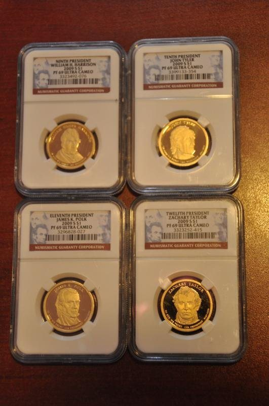 2009 S NGC PF69 PRESIDENTIAL DOLLAR 4 COIN PROOF SET