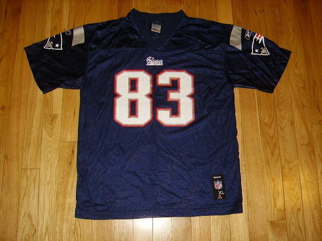 ba25529a091 Reebok WES WELKER Blue NEW ENGLAND PATRIOTS #83 Youth N