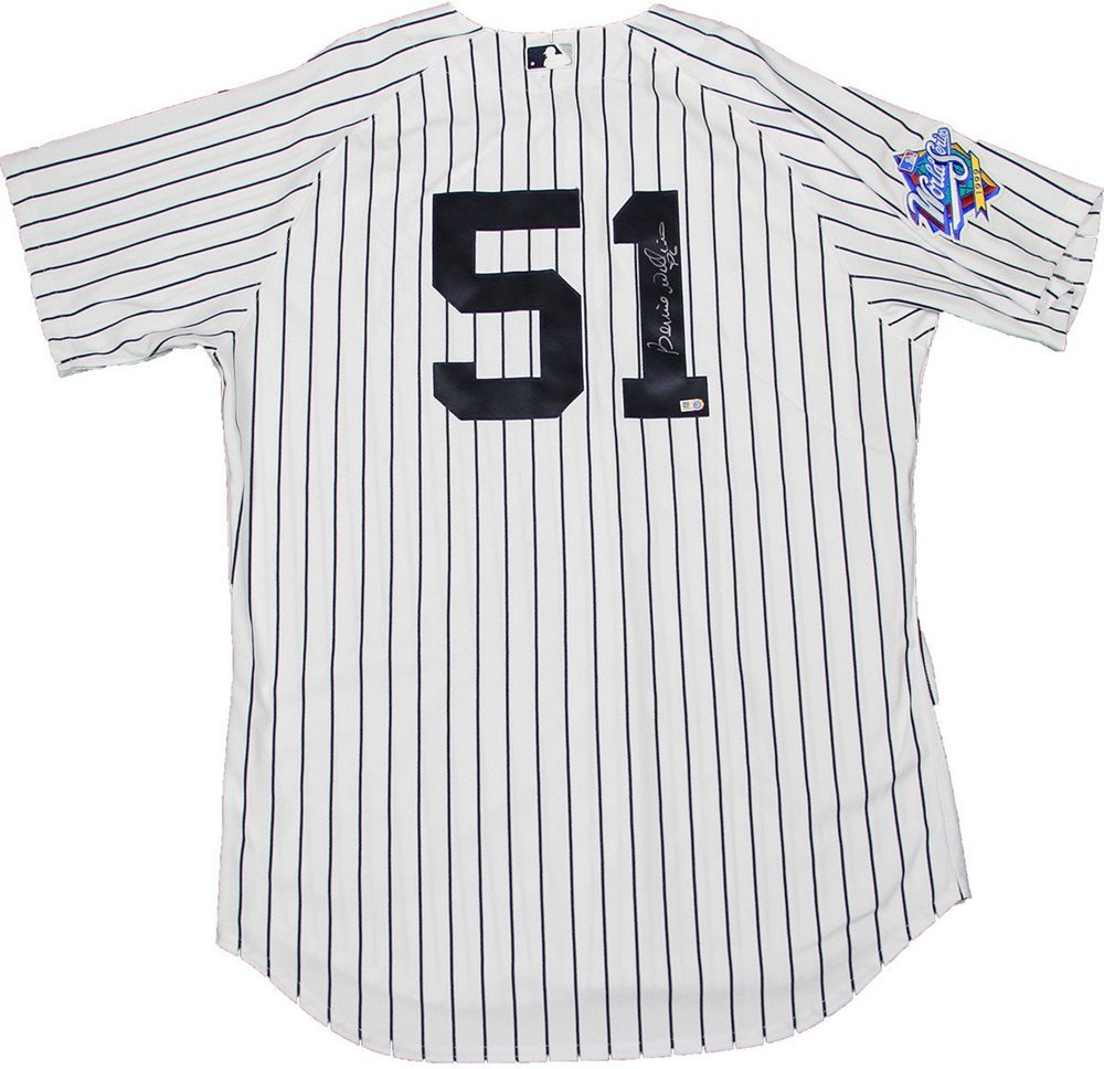 online store 4e037 d60b1 Bernie Williams Signed New York Yankees Authentic Pinstripe Jersey w/ 1999  Patch (MLB Auth)