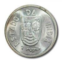 India Portuguese Rupia 1935 BU KM-22