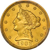 1903 $2.50 Liberty Head Quarter Eagle PCGS MS65 CAC