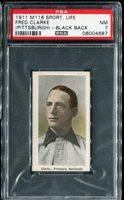 1911 M116 Sporting Life Fred Clarke (Pittsburth) Black Back PSA 7