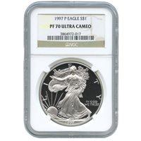 1997-P 1 oz Proof Silver American Eagles NGC PF70 UCAM