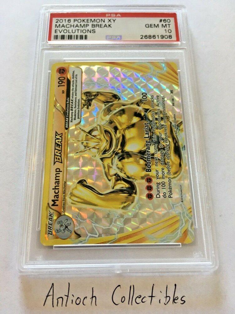 Pokemon Card  MACHAMP  BREAK HOLO RARE  EVOLUTIONS  60//108 ***MINT***