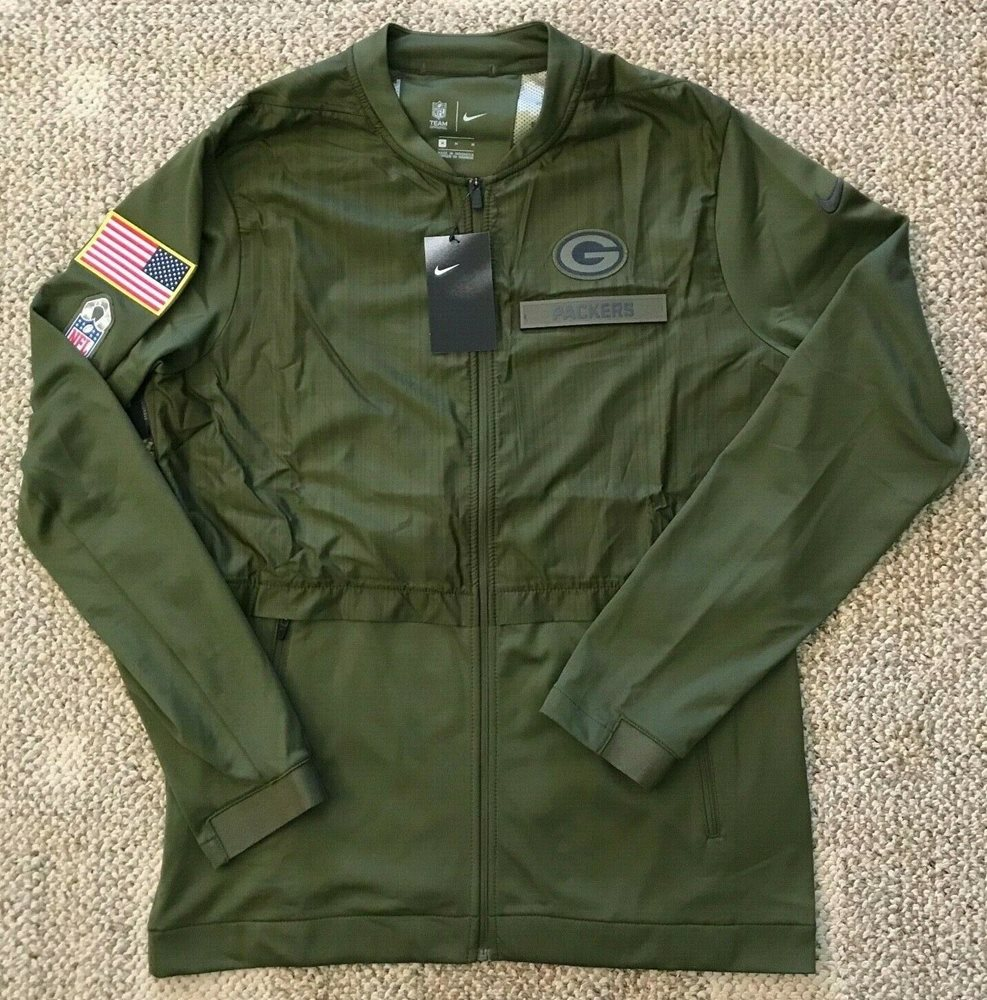 quality design 2501e d91d3 Nike Mens Salute to Service Full Zip Jacket Size Large L NFL Green Bay  Packers