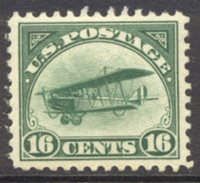 C 2 16c Biplane, Green F-VF Mint NH[c2nh]