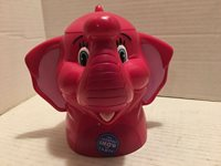ELEPHANT Mug Cup Hinged Lid The Greatest Show On Earth Ringling Bros