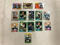 Lot of 14 Assorted NFL Football Dallas Cowboys Cards Various Years & Players
