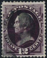 Scott 162, F-VF, well-margined, lt. cancel, 12c Blackish Violet, 1873 Continental Print