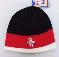 4c3f6a3d7bd Houston Rockets NBA adidas Winter Fitted Cuffless Knit Beanie Hat Skully Cap  NWT