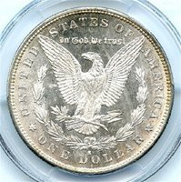 """1880-S $1 Morgan Dollar, PCGS MS-66+ (""""plus"""" designation), Brilliant Uncirculated. Wow! This is very flashy coin, strong strike, with attractive light gold rim toning and great cartwheel luster. Very attractive high-end Morgan Dollar, and at a great price. Write for higher quality scan, layaway options. Zero problems guaranteed. Free Shipping."""