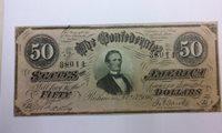 1864 $50 Richmond The Confederate States of America Banknote (#PM-79)