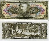 Brasil 5 Cruzeiros Pick 176d Banknote Money Unc