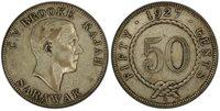 SARAWAK. Charles V. Brooke. 1927-H AR 50 Cents. PCGS XF40 Heaton KM 19.