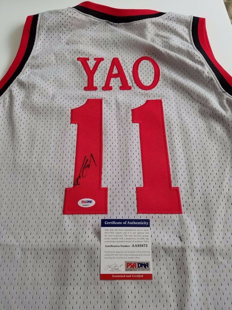 new product 0c584 36651 Yao Ming signed jersey PSA/DNA Houston Rockets Autographed