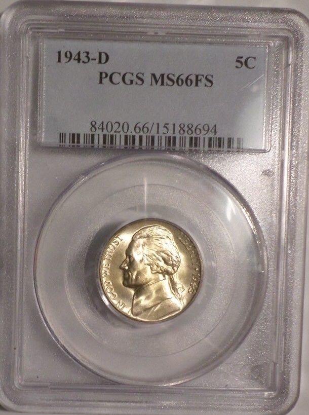 1943-D Jefferson Nickel PCGS MS63 Nice Golden Tone