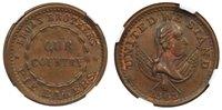 1863 Broas Brothers Pie Bakers Tradesman Token NGC MS62 BN