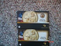 2014 Sacagawea American $1 coin and currency set sold out and rare TA9 One set