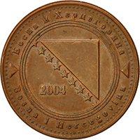 BOSNIA-HERZEGOVINA, 20 Feninga, 2004, EF(40-45), Copper Plated Steel, KM:116