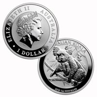 2018 1 Oz .9999 Silver $1 Australian Koala Brilliant Uncirculated