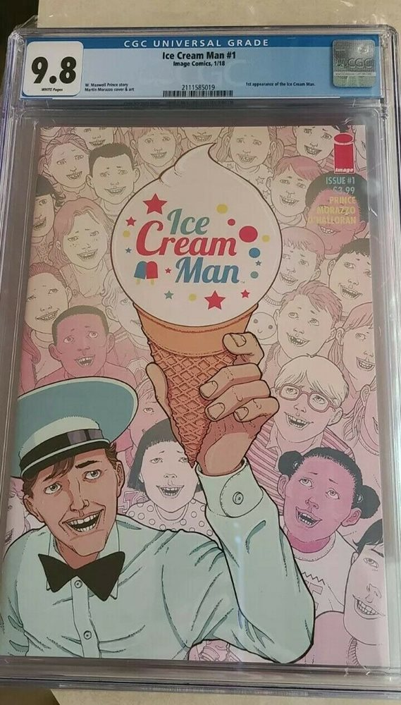 IMAGE COMICS 1ST APP FIRST PRINT ICE CREAM MAN #1 CGC 9.8 WHITE PAGES