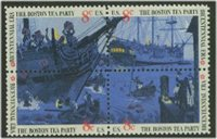 1480-3 8c Boston Tea Party Attached block of 4 Used[1480-3attu]