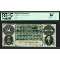 Collectors com - Currency - Confederate Notes - 1861 Issues
